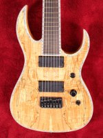 Shredzilla Prophecy Exotic Flattop 7 string with Hipshot Spalted Maple (SZ724SM)