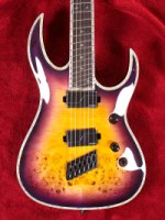 Shredzilla Prophecy Archtop Fanned Frets - Purple Haze (SZA624FFPH)