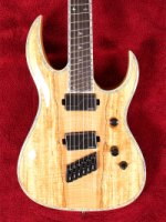 Shredzilla Prophecy Archtop Fanned Frets - Spalted Maple (SZA624FFSM)